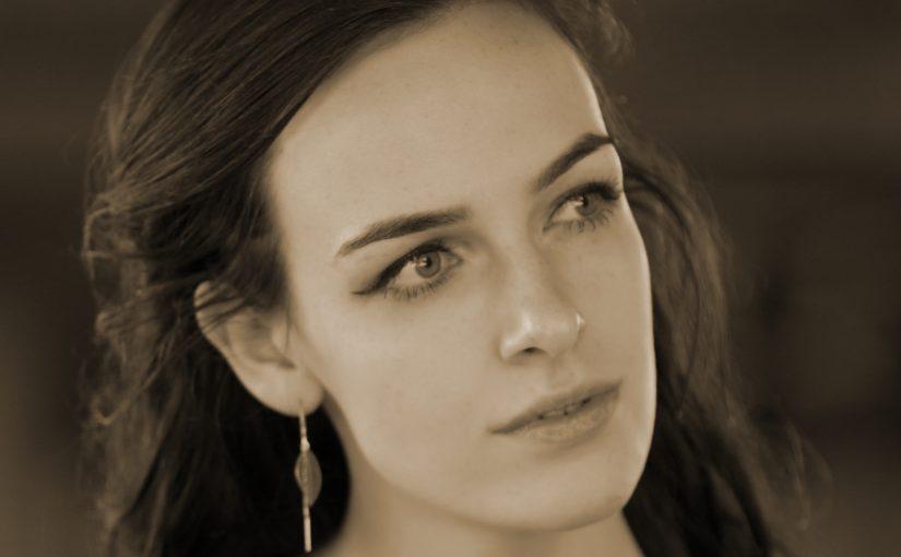 Buitenportret met model Annefleur