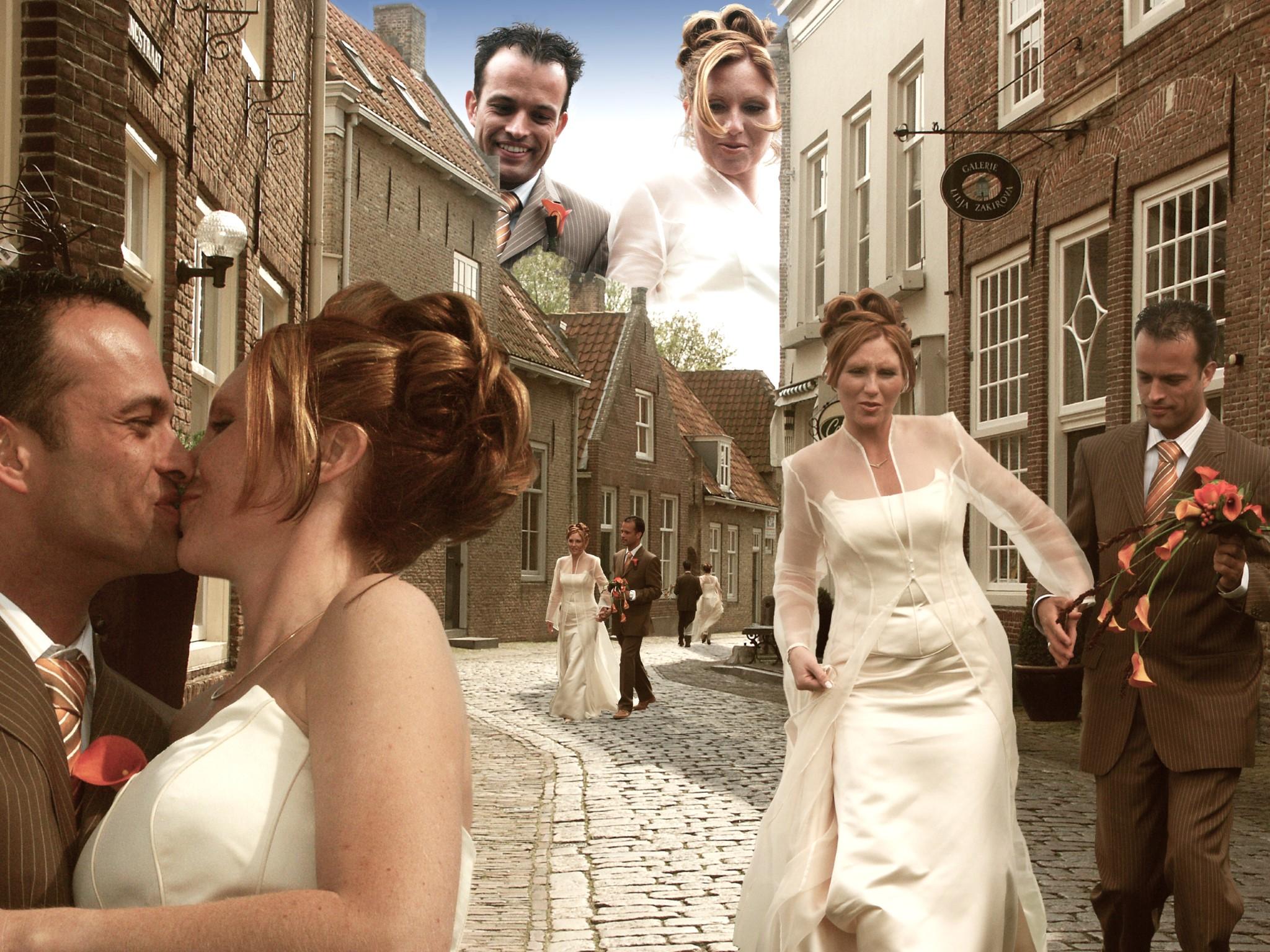 De Kijkdoos. Bewerking uit de trouwreportage van Rudy & Sandra. Foto Atelier Beloved Memories Eindhoven