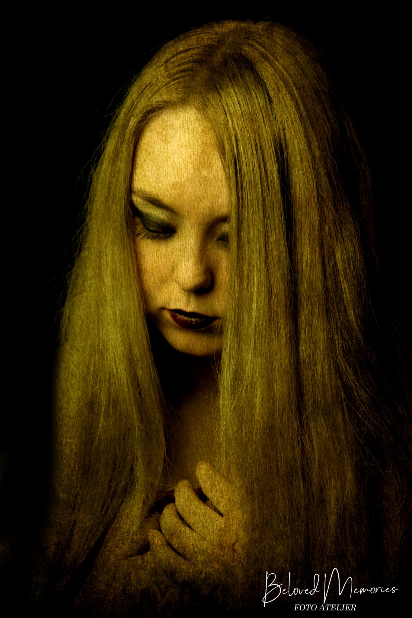 Art-impressie portret Anke