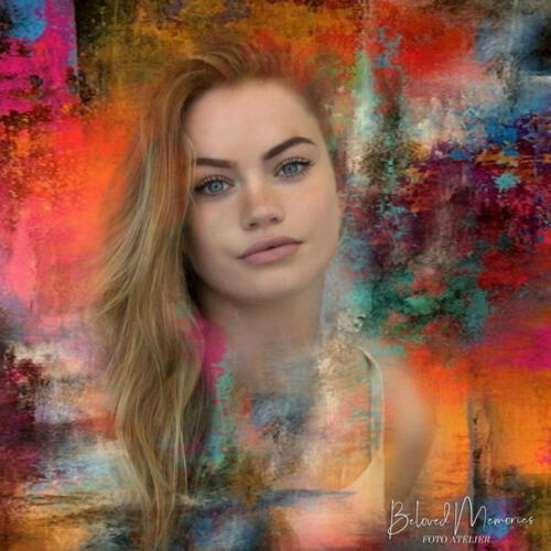 Art-impression portret Isa