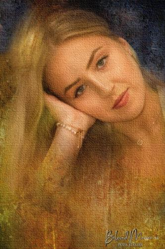 Art-impressie Portret Danine